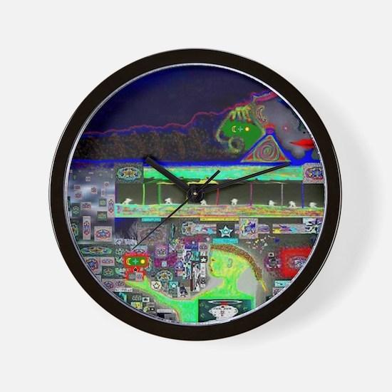 LSD Psychotherapy V by Brett Wall Clock