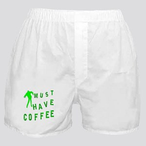 Must Have Coffee Zombie Boxer Shorts