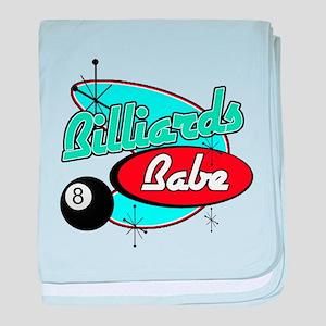 Billiards Babe baby blanket