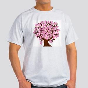 breast cancer pink ribbon tree Light T-Shirt