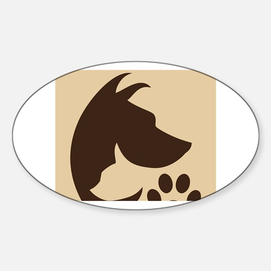 With Love for the Animals  Sticker (Oval)