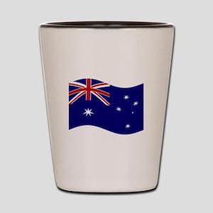 Waving Australia Flag Shot Glass