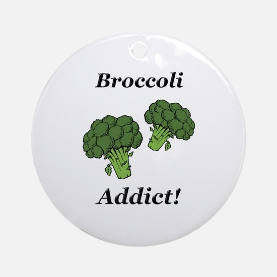 Broccoli Addict Ornament (Round)