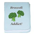 Broccoli Addict baby blanket