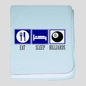 Eat, Sleep, Billiards baby blanket
