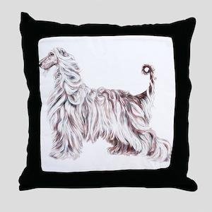Afghan Hound Elegance Throw Pillow