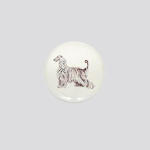 Afghan Hound Elegance Mini Button