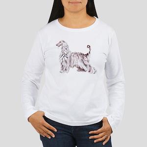 Afghan Hound Elegance Women's Long Sleeve T-Shirt