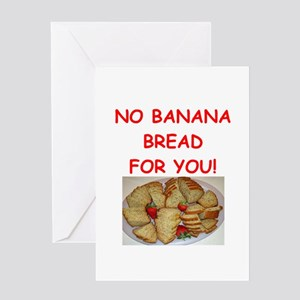 banana bread Greeting Cards