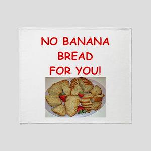 banana bread Throw Blanket