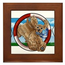 Buff Cocker Spaniel Framed Tile