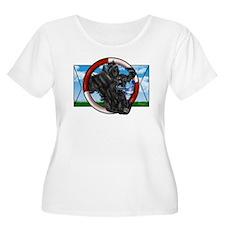 Black Cocker Women's Plus Size Scoop Neck T-Shirt