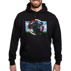 Black Cocker Spaniel Hoodie (dark)