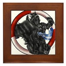 Black Cocker Spaniel Framed Tile