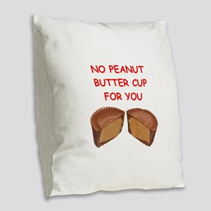 peanut butter cup Burlap Throw Pillow
