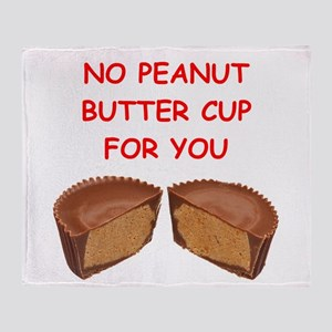 peanut butter cup Throw Blanket