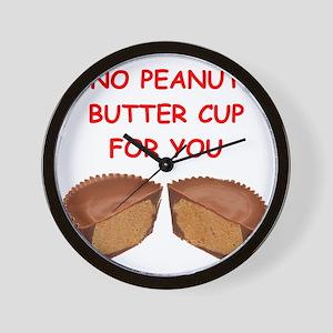 peanut butter cup Wall Clock