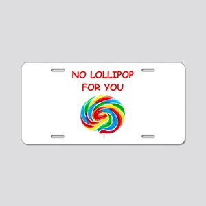 lollipop Aluminum License Plate