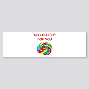 lollipop Bumper Sticker