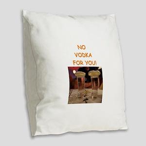 vodka Burlap Throw Pillow