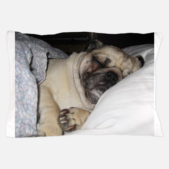 Sleepy Pug Pillow Case