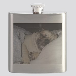 Sleepy Pug Flask