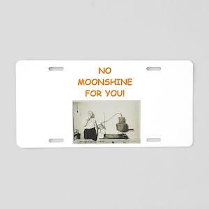 moonshine Aluminum License Plate
