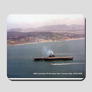 USS Coral Sea CVA-43 Mousepad