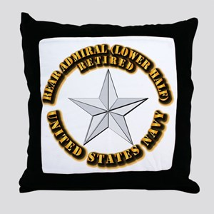 Navy - Rear Admiral (lower half) - O- Throw Pillow