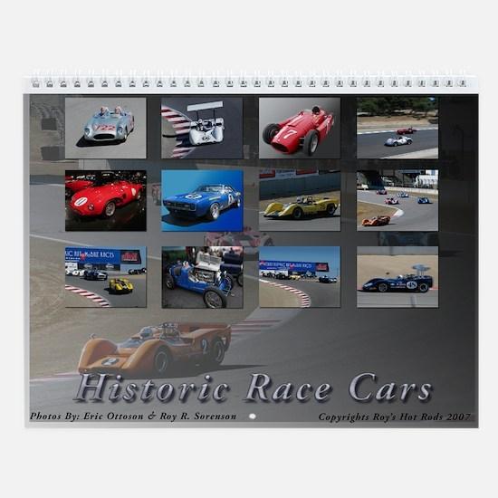 Historic Race Cars Wall Calendar