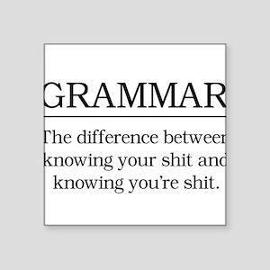 grammar knowing your shit Sticker