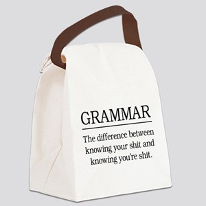 grammar knowing your shit Canvas Lunch Bag