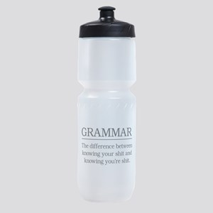 grammar knowing your shit Sports Bottle