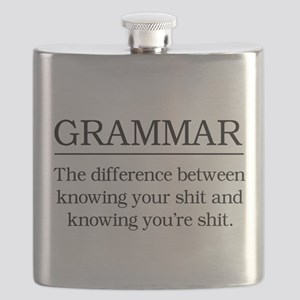 grammar knowing your shit Flask