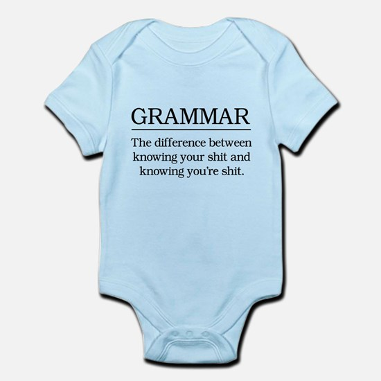 grammar knowing your shit Body Suit