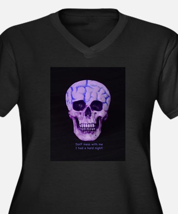 Skull hard night Plus Size T-Shirt