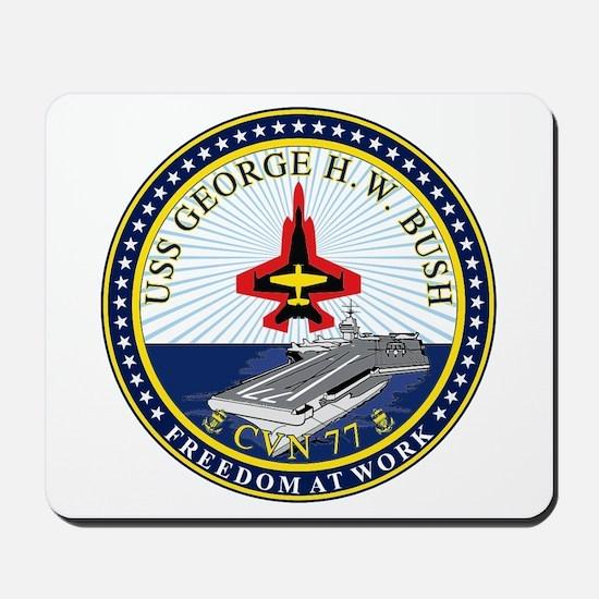 USS George H. W. Bush CVN-77 Mousepad