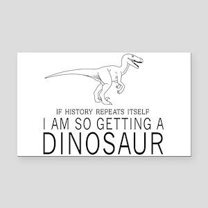 history repeats dinosaur Rectangle Car Magnet