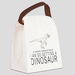 history repeats dinosaur Canvas Lunch Bag