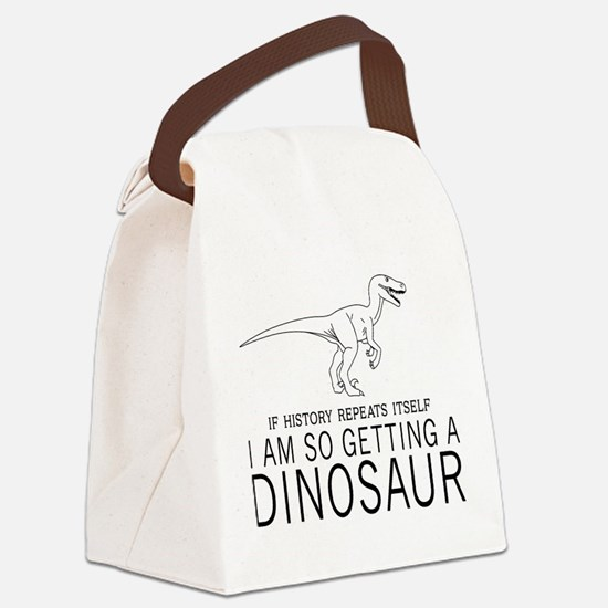 history repeats dinosaur Canvas Lunch Bag