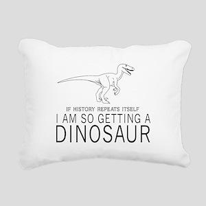 history repeats dinosaur Rectangular Canvas Pillow