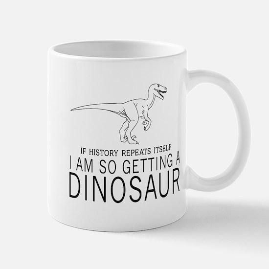 history repeats dinosaur Mugs