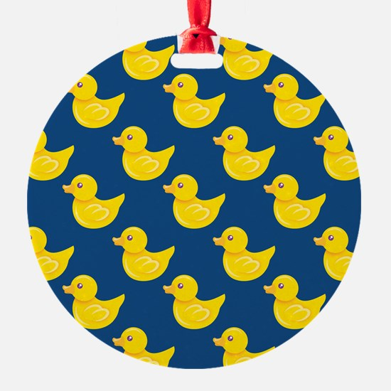 Blue and Yellow Rubber Duck, Ducky Ornament