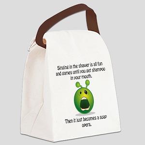 Punny Alien Soap Opera Canvas Lunch Bag