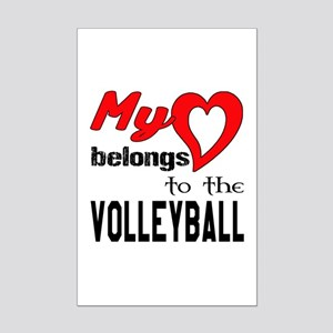My Heart belongs to the Volleyba Mini Poster Print