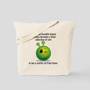 Punny Alien Venn Tote Bag