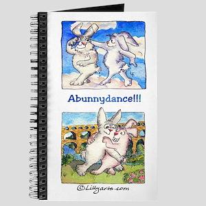 Cute Cartoon Bunny Abunnydance Journal 8x5