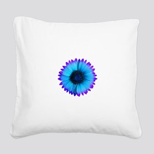 Purple and Blue Flower Square Canvas Pillow