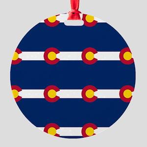 Colorado Flag Pattern Ornament