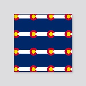 Colorado Flag Pattern Sticker